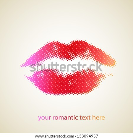 woman lips - stock vector