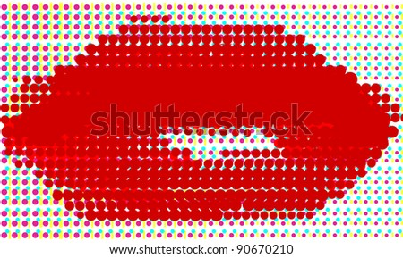 Woman lips, fashion background concept - stock vector