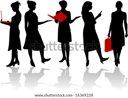 Woman of business - stock vector