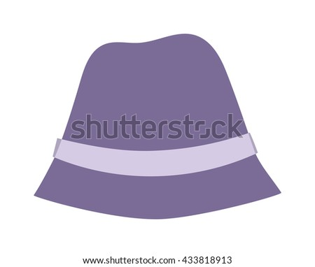 Woman panama hat isolated on white background and flat vector girls hat. Fashion sun protection yellwoman panama w hat and summer hat color design. Panama hat style accessory - stock vector