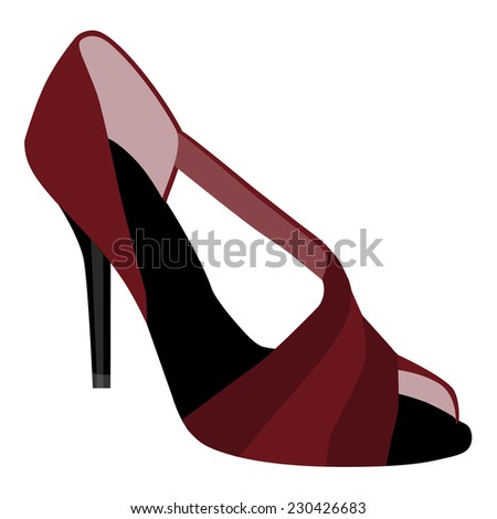 Woman shoes, shoes fashion, woman shoes isolated - stock vector
