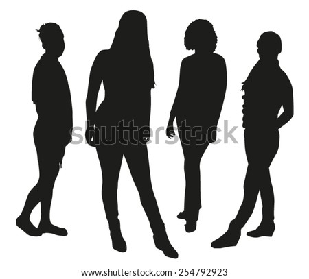 Woman Silhouettes - stock vector