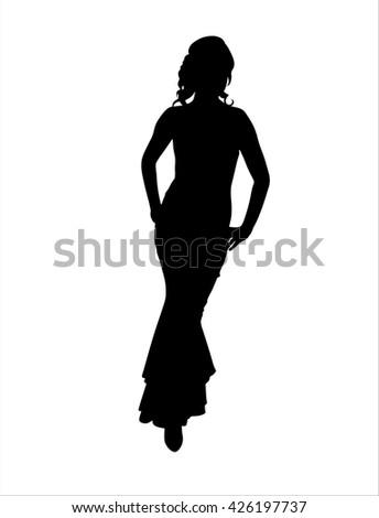 Woman vector silhouette - stock vector