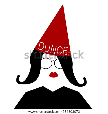 Pointed caps stock photos images pictures shutterstock for Dunce hat template