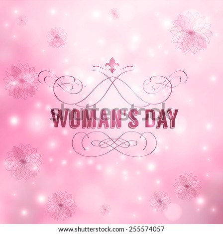 Womans Day - stock vector