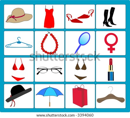 Women Accessory - stock vector
