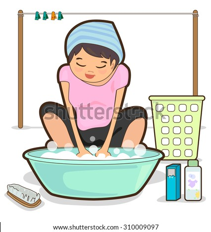 Washing Clothes Stock Photos, Images, & Pictures ...