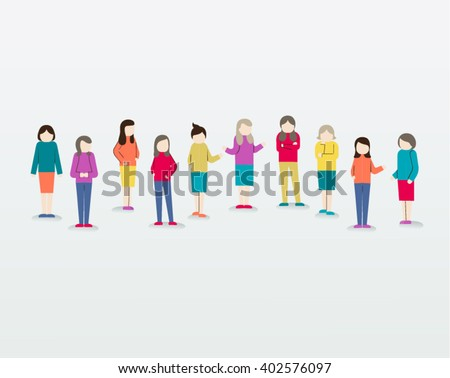Women Gather Together People Icon Vector Design Illustration - stock vector