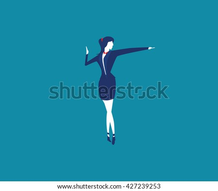 Women leader investment. Leadership Success.  Women leaders business. Global Success. Business concept. Investment. Concept business illustration. Women leaders Cooperation - stock vector