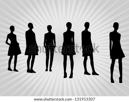 Female body silhouette stock photos images amp pictures shutterstock