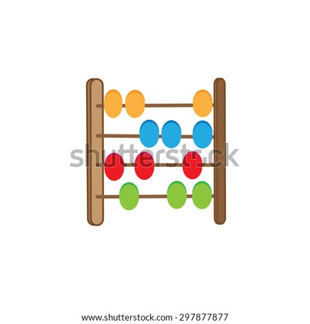 wood abacus toy - stock vector