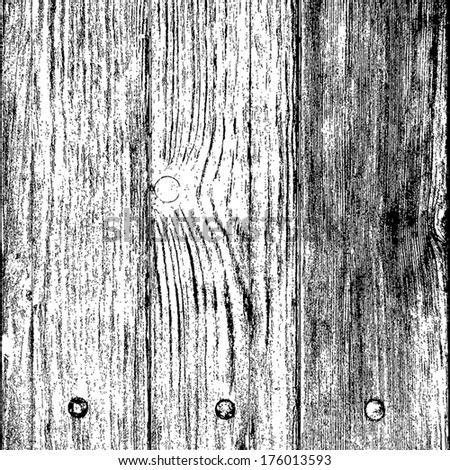 Wood background - wooden boards with a nail head. EPS10 vector. - stock vector