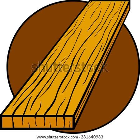 wood board - stock vector
