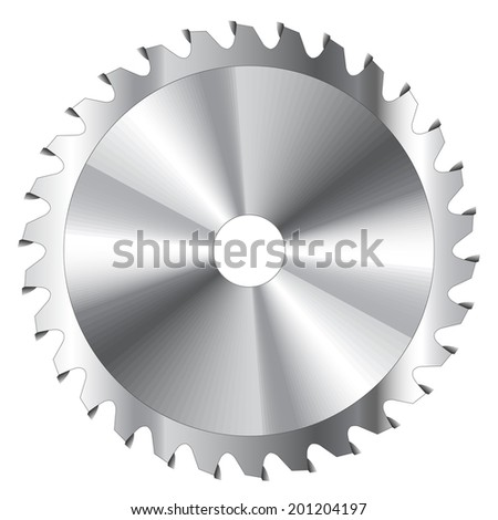 Wood cutting circular saw blade vector illustration  - stock vector