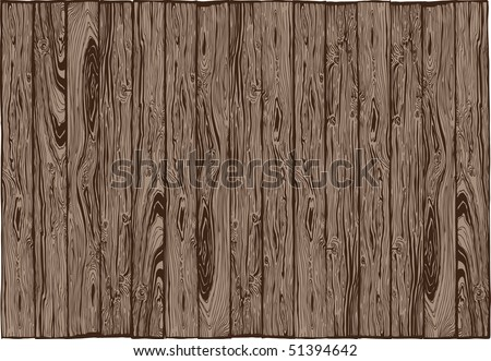Wood plank alignment with wooden texture - stock vector