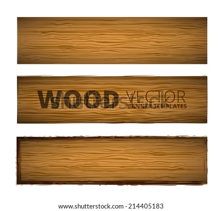 Wood plank brown texture template - stock vector