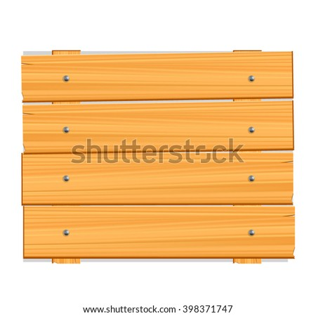 Wood plank isolated on white background - stock vector