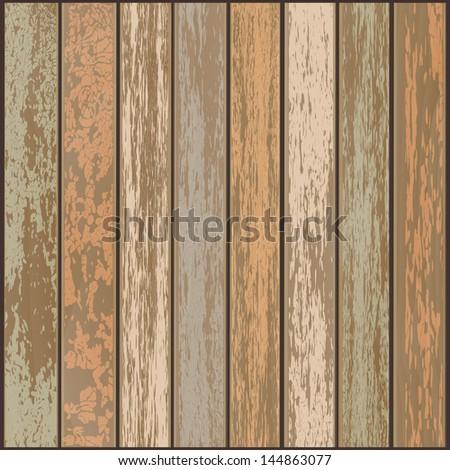 Wooden background. (EPS 10) - stock vector