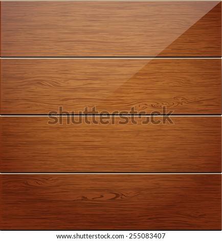 Wooden boards background. Vector illustration. - stock vector