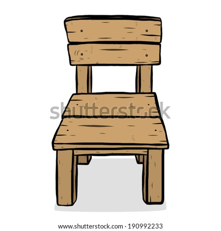 wooden chair / cartoon vector and illustration, hand drawn style ...