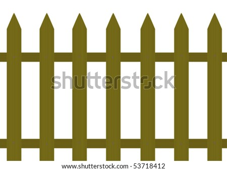 Wooden fence - stock vector
