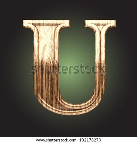 wooden figure made in vector - stock vector