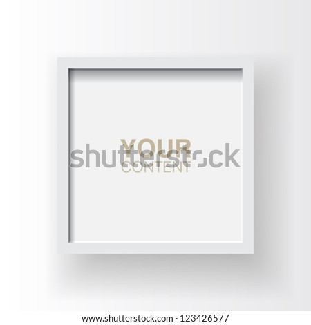 Wooden frame design vector with simple background for your content - stock vector