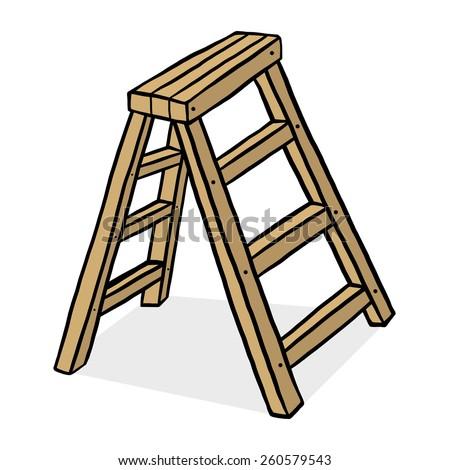 Wooden Step Ladder Stock Vectors Amp Vector Clip Art