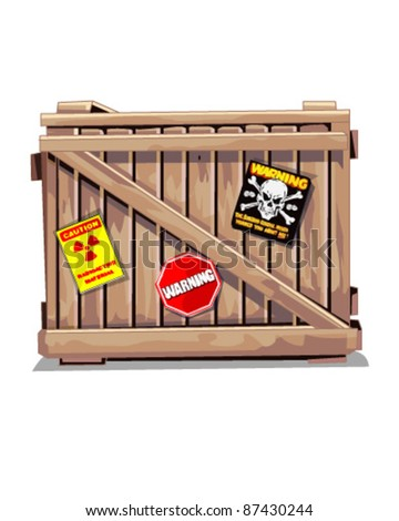 wooden package isolated - stock vector
