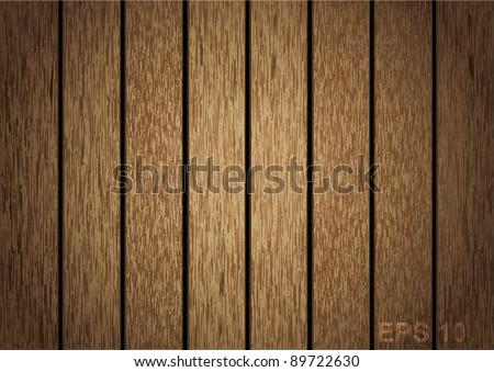 Wooden panel seamless background. vector illustration - stock vector