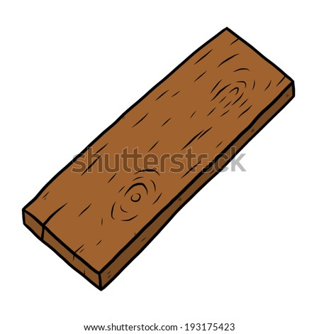 wooden plank / cartoon vector and illustration, hand drawn style, isolated on white background. - stock vector