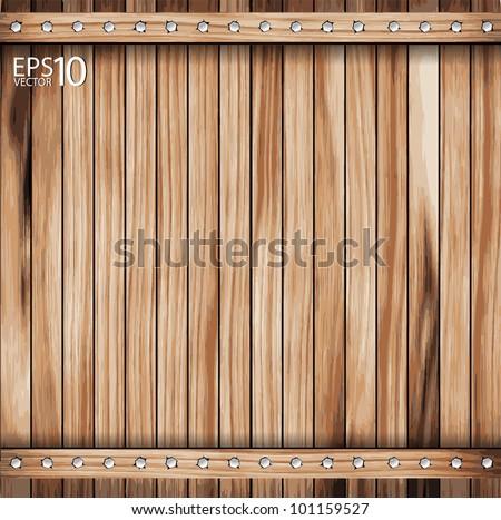 Wooden texture background. vector illustration. - stock vector