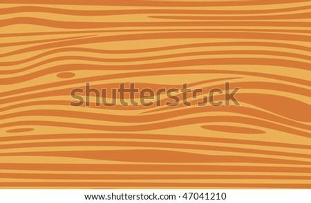 Wooden texture, vector background - stock vector