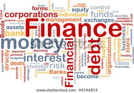 Word cloud concept illustration of money finance - stock vector