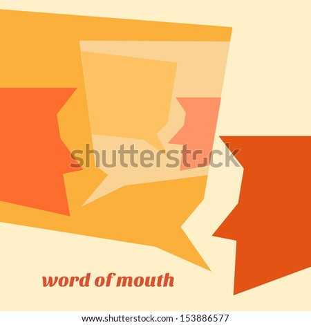 word of mouth - stock vector