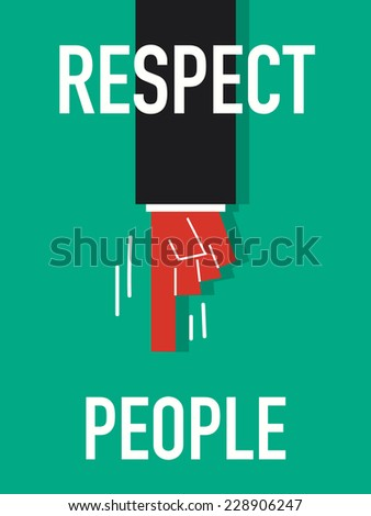 Word RESPECT PEOPLE vector illustration - stock vector