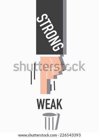 Word Strong VECTOR ILLUSTRATION - stock vector