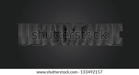 word ultimate - stock vector