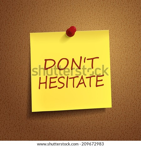 words on note over brown background - stock vector