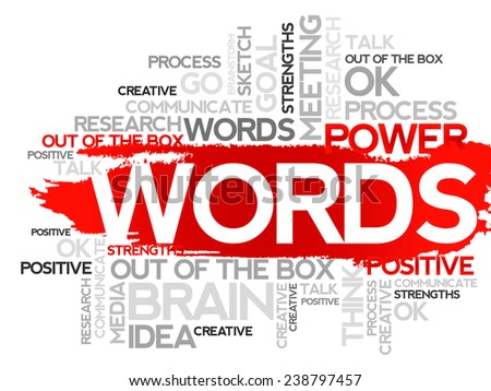 WORDS. Word business collage, vector background - stock vector
