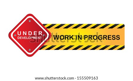 work in progress over white background  vector illustration - stock vector