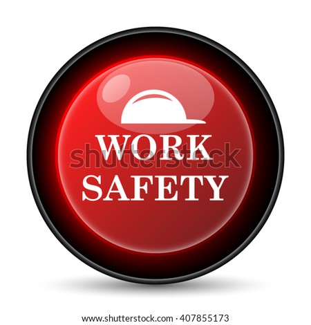 Work safety icon. Internet button on white background. EPS10 vector