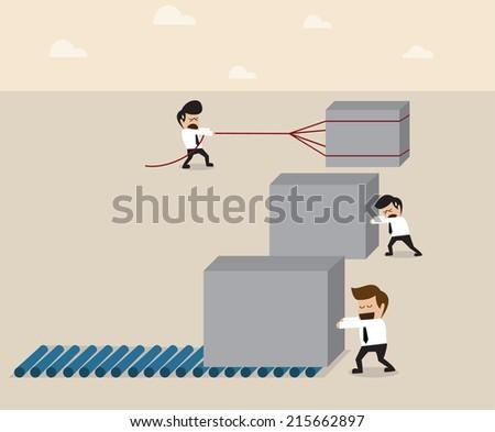 Work smart concept - stock vector