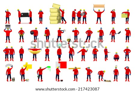 workers vector illustration - stock vector