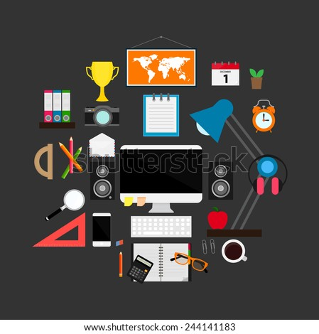 Working area - vector illustration - stock vector