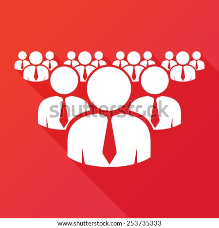 Working together team concept. Leadership and underachievers concept. Vector illustration version. Business Businessman Group Workforce Worker Human Resources Pictogram Icon.  - stock vector