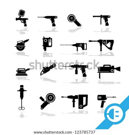 Working tools icon set  1 - stock vector