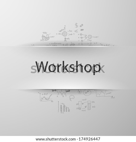 Workshop - stock vector