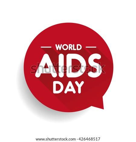 World AIDS Day Speech bubble - stock vector