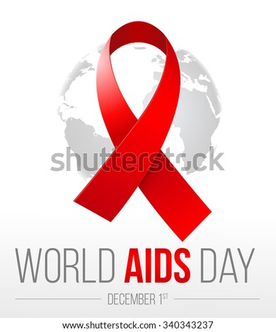 World AIDS Day. 1st December World Aids Day poster. Vector illustration - stock vector